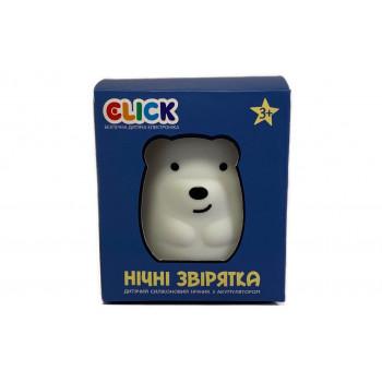 Ночник детский Click Медвежонок силиконовый (10 см.)
