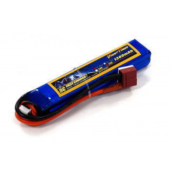 Аккумулятор для страйкбола Giant Power Li-Pol 7.4V 2S 1300mAh 25C 16х20х103мм...