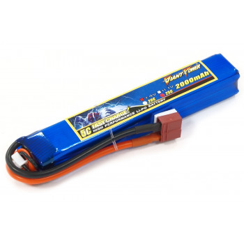 Аккумулятор для страйкбола Giant Power Li-Pol 7.4V 2S 2000mAh 25C 20х21х126мм...
