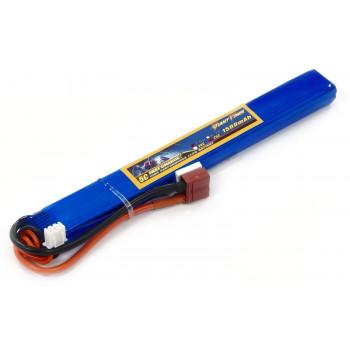 Аккумулятор для страйкбола Giant Power Li-Pol 7.4V 2S 1500mAh 25C 15х19х167мм...
