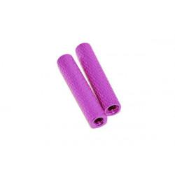 Стійка рифлена 25мм для рам мультикоптерів (фіолетовий)