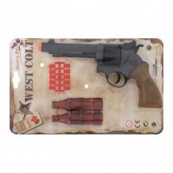 Пистолет EDISON West Colt 28см 8-зарядный с мишенью и пульками (465/32)