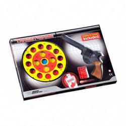 Пистолет EDISON Target Game 28см 8-зарядный с мишенью и пульками (485/22)