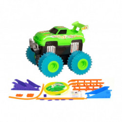 Машинка на бат. Trix Trux набор с трассой (зеленый)