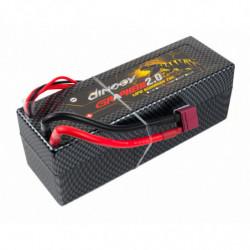 Аккумулятор Dinogy G2.0 Li-Pol 6500mAh 14.8V 4S 70C Hardcase 48x46x139мм T-Plug