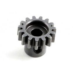Пиньон HOBBYWING 15T M1 5mm из хромированной стали