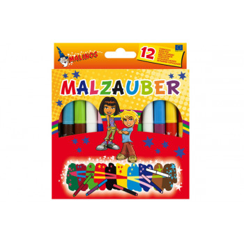 Фломастеры волшебные меняющие цвет Malinos Malzauber 10+2 шт
