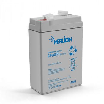 Акумуляторна батарея MERLION AGM GP645, 6V 4.5Ah