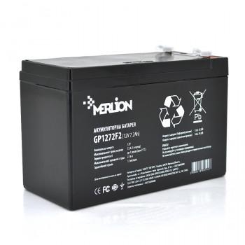 Аккумуляторная батарея MERLION AGM GP1272F2 12 V 7,2 Ah ) Black