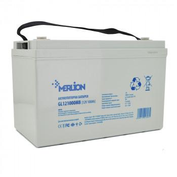 Аккумуляторная батарея MERLION GL121000M8 12 V 100 Ah  White