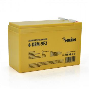 Тяговая аккумуляторная батарея AGM MERLION 6-DZM-9, 12V 9Ah F2