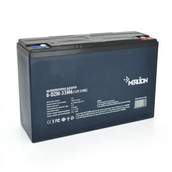 Тяговая аккумуляторная батарея AGM MERLION 6-DZM-33, 12V 33Ah, M6